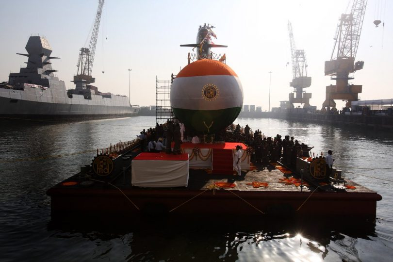 Submarine Karanj launched in Mumbai