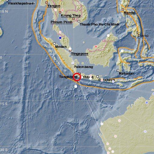 Earthquake in Indonesia, 6.0 magnitude