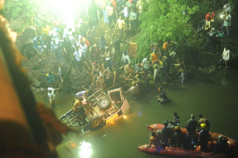 Kohlapur bus accident: 13  killed, 4 injured after bus falls into river in Maharashtra