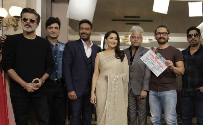 Aamir Khan gives the mahurat clap for Ajay Devgn's Total Dhamaal