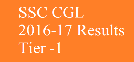 SSC CGL 2017 Tier 1 revised results are out