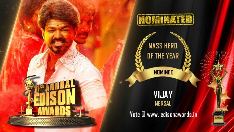 "Thalapathy Vijay nominated ""Mass Hero of the year"" in Edison Awards"
