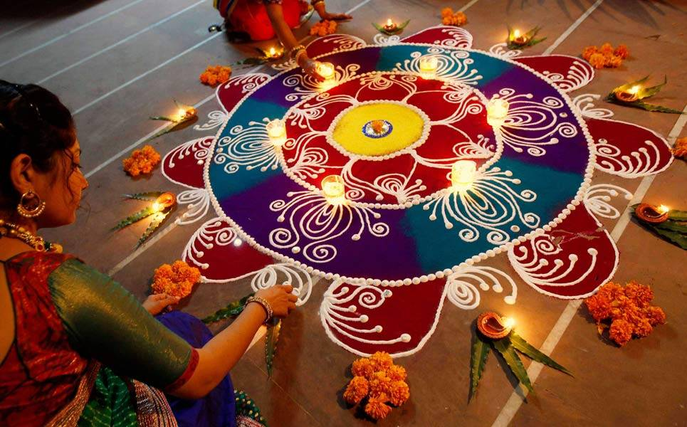 Decoration Ideas And Rangoli Designs For Pongal Festival