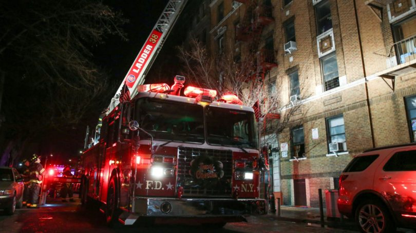 New York fire burns Bronx Apartment