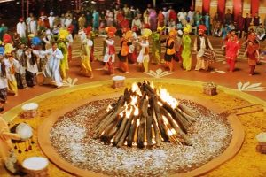 traditional lohri decoration