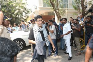 Manish Malhotra at Sridevi's residence