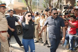 Amisha Patel reached Sridevi's residence to pay her respects