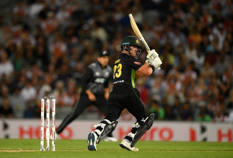Australia vs New Zealand; Tri-Series Final, Australia won by 19 runs(D/L Method)