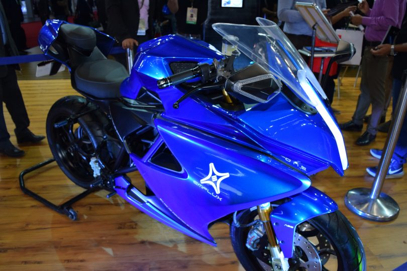Emflux One, Electric Superbike unveiled at Auto Expo 2018