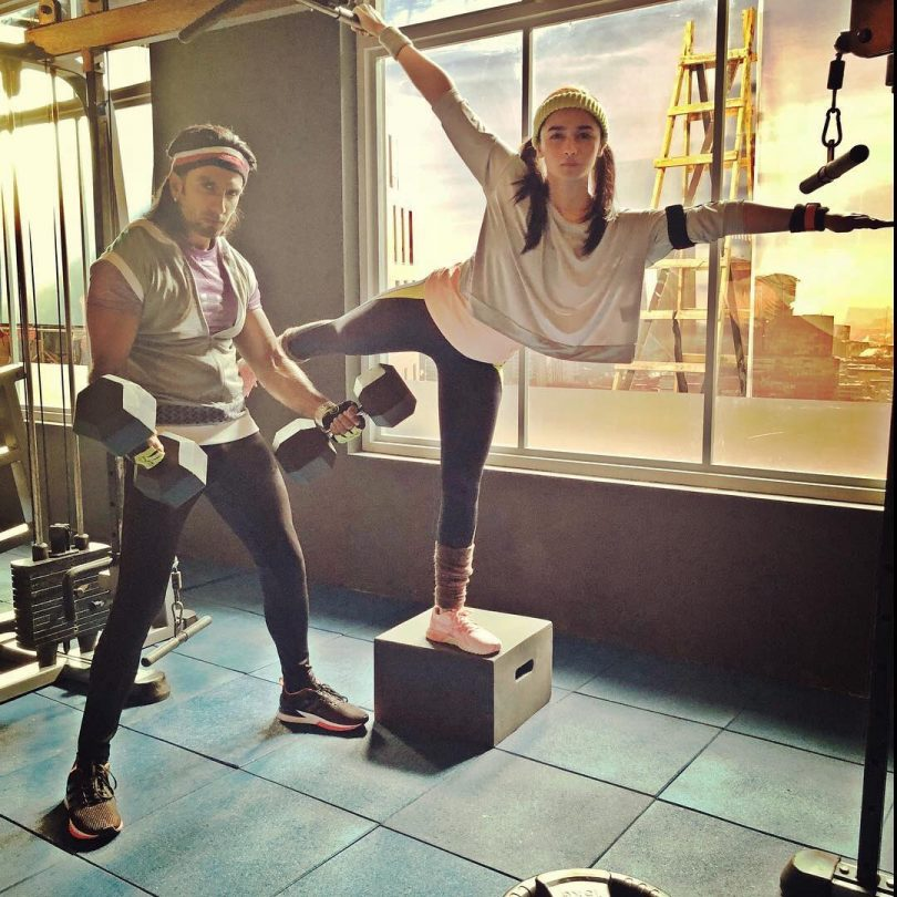 Ranveer Singh and Alia Bhatt pair up in gym for intense workout
