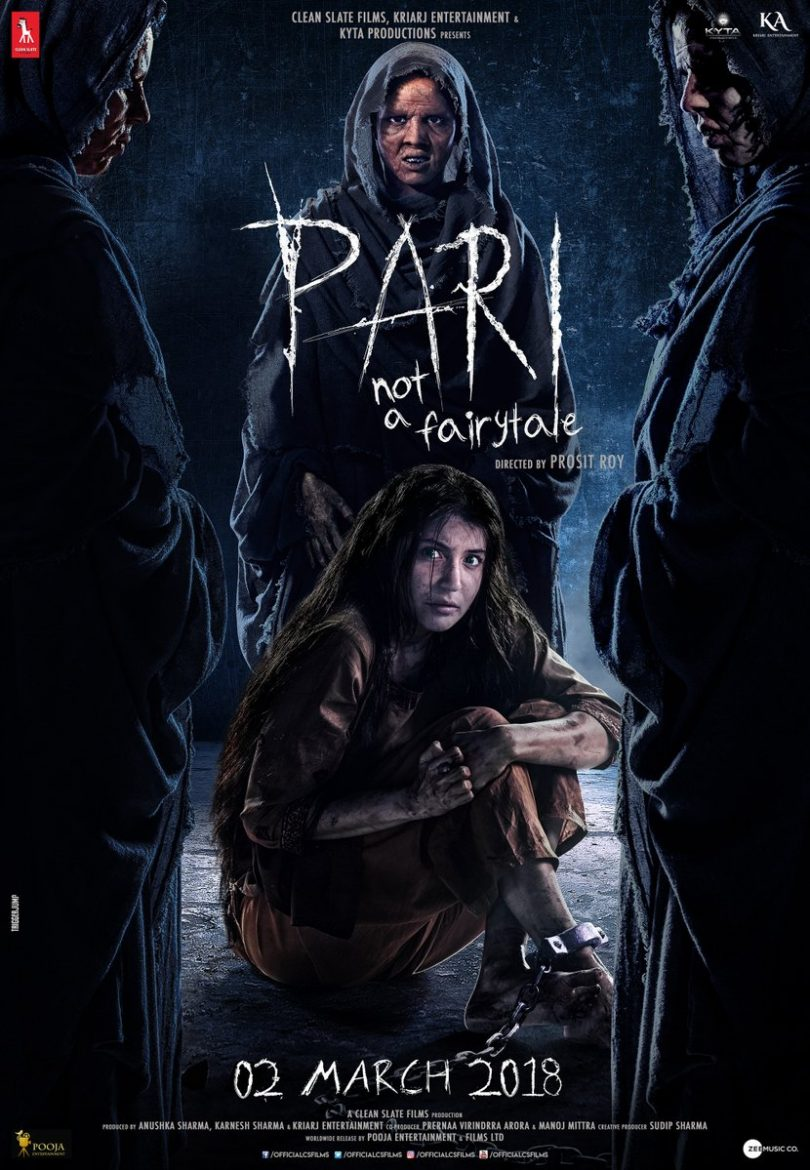 Pari poster, Anushka Sharma is surrounded by evil, movie trailer to release on February 15