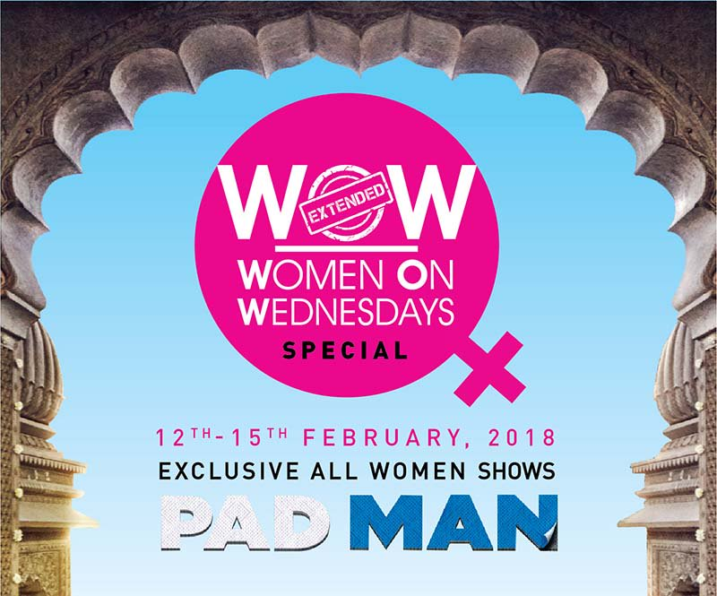 Padman and PVR collaborate to give exclusive women shows of the film