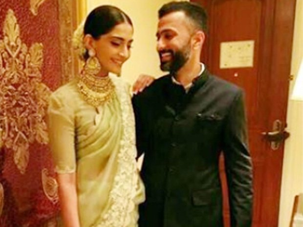 Sonam Kapoor and her boyfriend Anand Ahuja clicked together at last year's National Awards