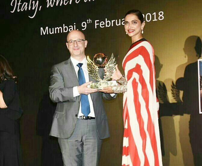 Deepika Padukone receives Volare Award from Italian Consulate General
