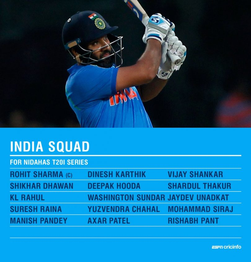 Nidahas Trophy, Rohit Sharma is going to lead the team