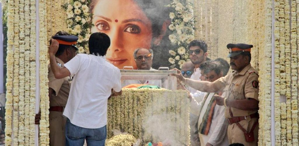 Sridevi funeral Live: The iconic actress says goodbye, funeral process completed