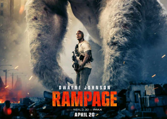 Watch The Rock befriend gorillas and fight flying wolves in Rampage