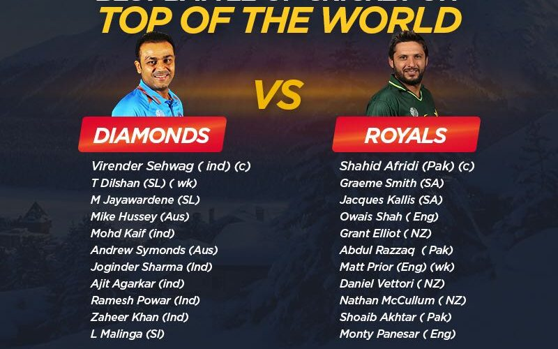 Ice Cricket: Afridi-led Royals beat Sehwag's Diamonds by six wickets