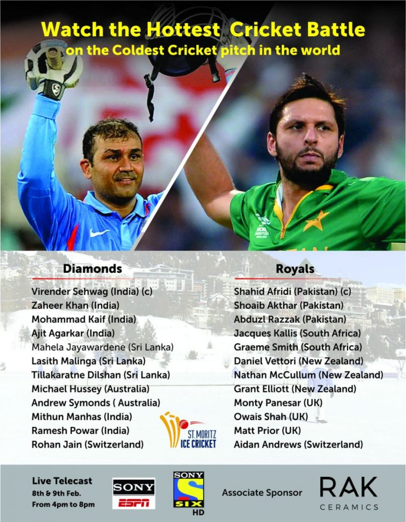 Ice Cricket Tournament, Sehwag-Akhtar rivarly is set for another showdown