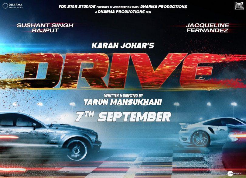 Sushant Rajput, Jacqueline Fernandez starrer 'Drive' to release on 7 September