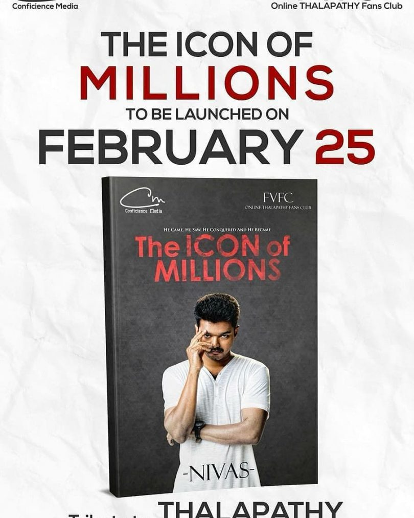 Book on Thalapathy Vijay, 'The Icon of Millions' to be available from this day