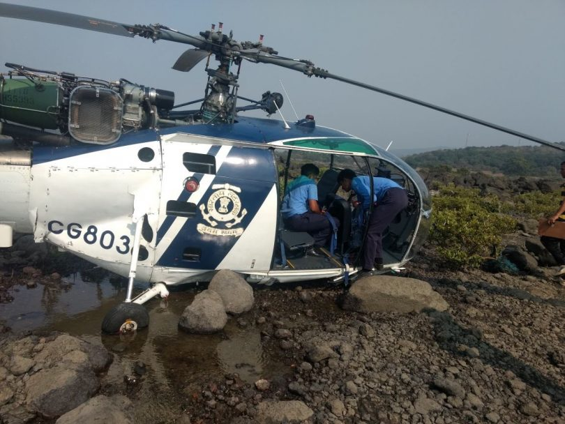 Coast Guard helicopter crash lands in Raigad area, Maharashtra