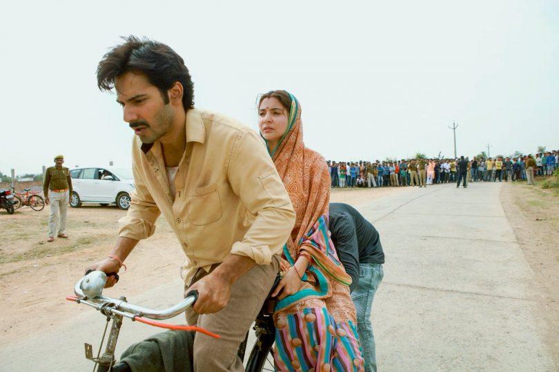 Sui Dhaaga movie still: Varun Dhawan takes Anushka Sharma on a bicycle ride