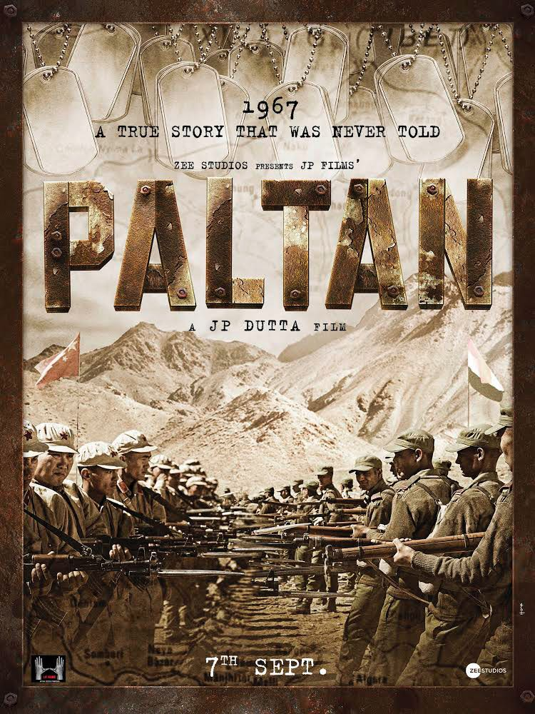 Paltan movie poster released, starring Jackie Shroff, Suniel Shetty and Arjun Rampal