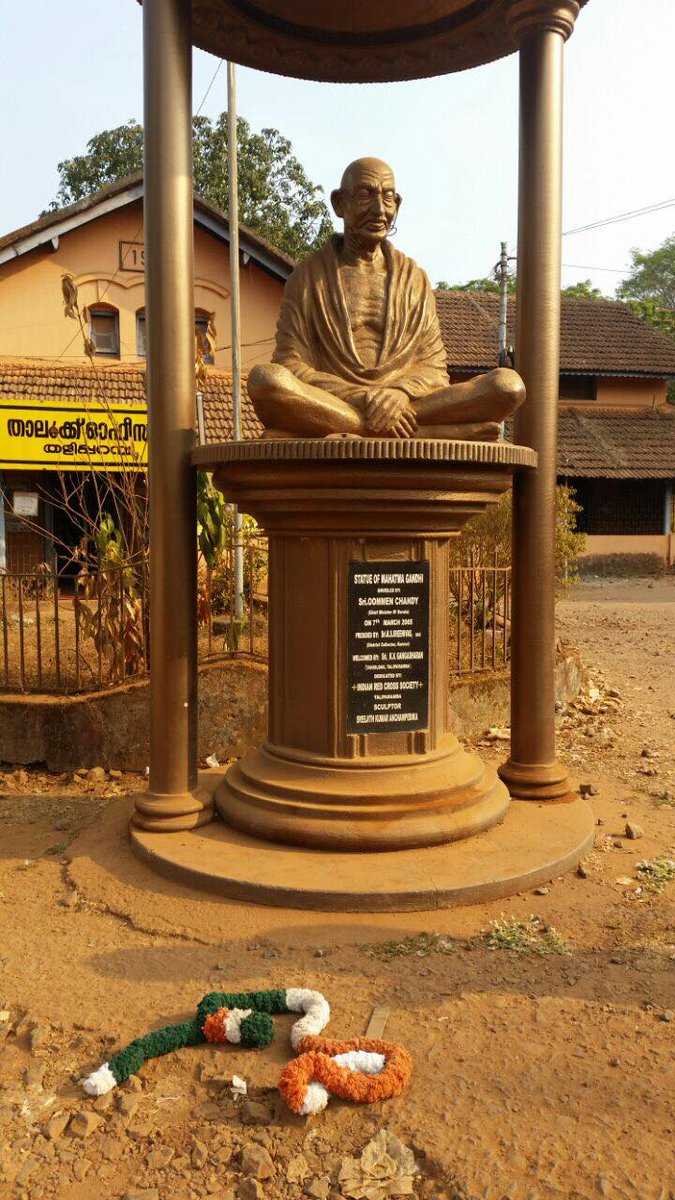 Mahatma Gandhi statue defaced in Kannur, Kerala, B R Ambedkar's statue smeared with paint