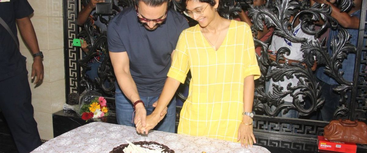 Aamir Khan and Kiran Rao celebrate birthday, share a loving kiss