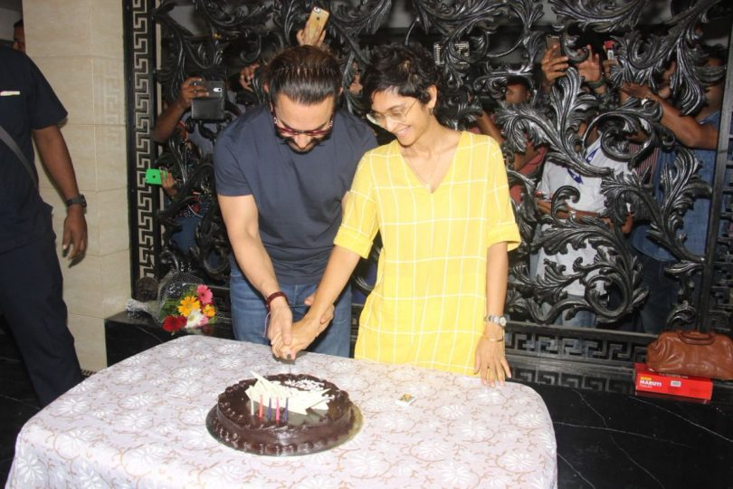 Aamir Khan and Kiran Rao celebrate birthday, share a loving kiss