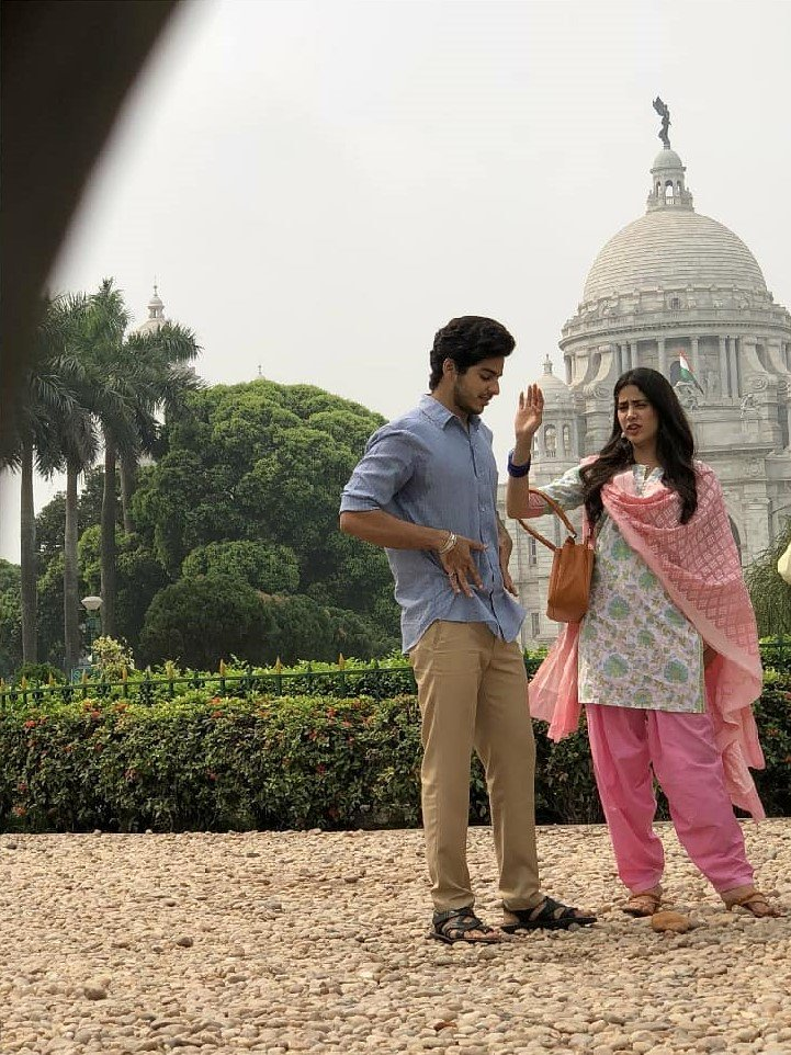 Dhadak movie: Janhvi Kapoor and Ishaan Khatter pics from Victoria Memorial, Kolkata