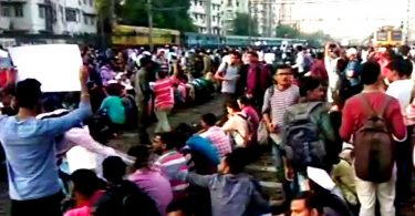 Mumbai Rail Roko Protest, Students demanding jobs, Block railway tracks