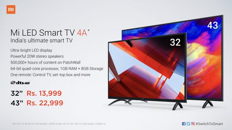 Xiaomi Mi LED TV 4A Full specifications and Price in India