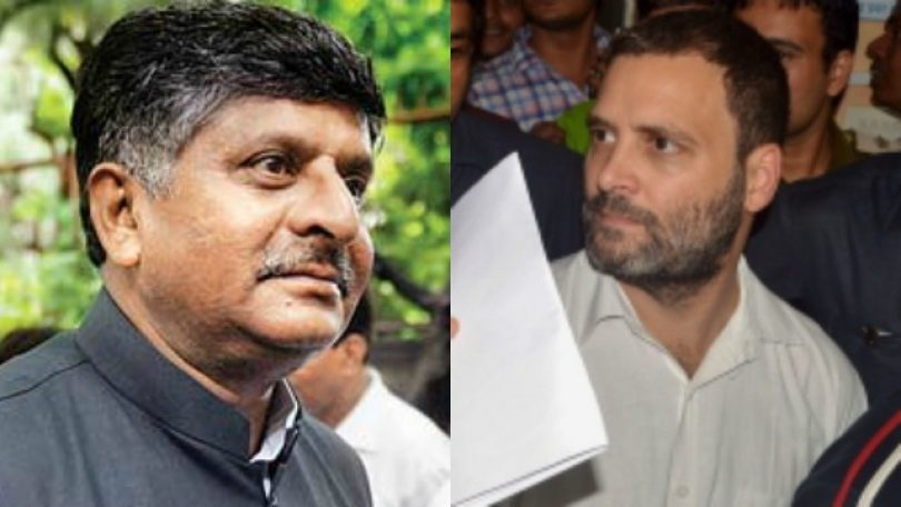 Rahul Gandhi slams Ravi Shankar Prasad for pending cases in Supreme Court