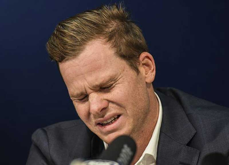 Twitter reactions over Steve smith emotional conference
