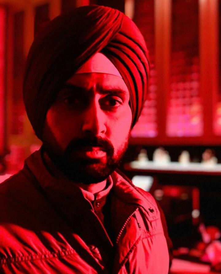 Abhishek Bachchan goes red in a turban for 'Manmarziyan'