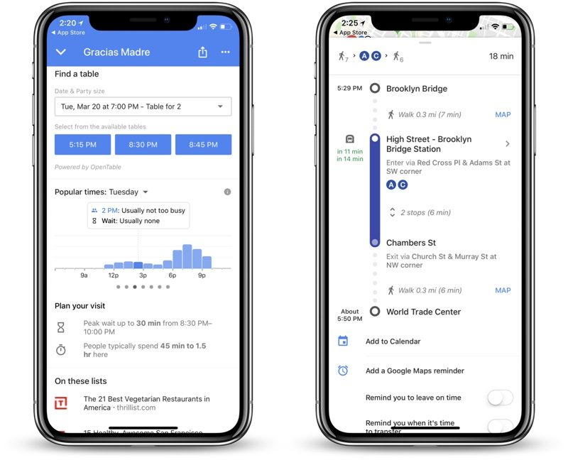 Google maps new update for iOS users, Improved timing and Restaurant wait feature launched