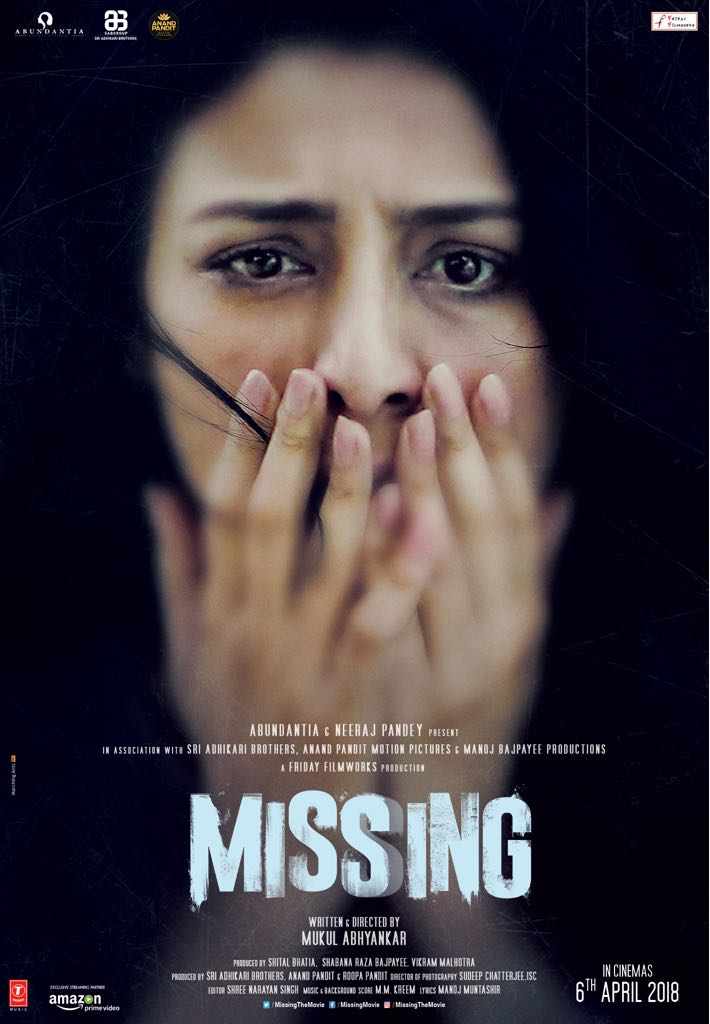 Tabu and Manoj Bajpayee starrer 'Missing' poster has Tabu suffering in silence