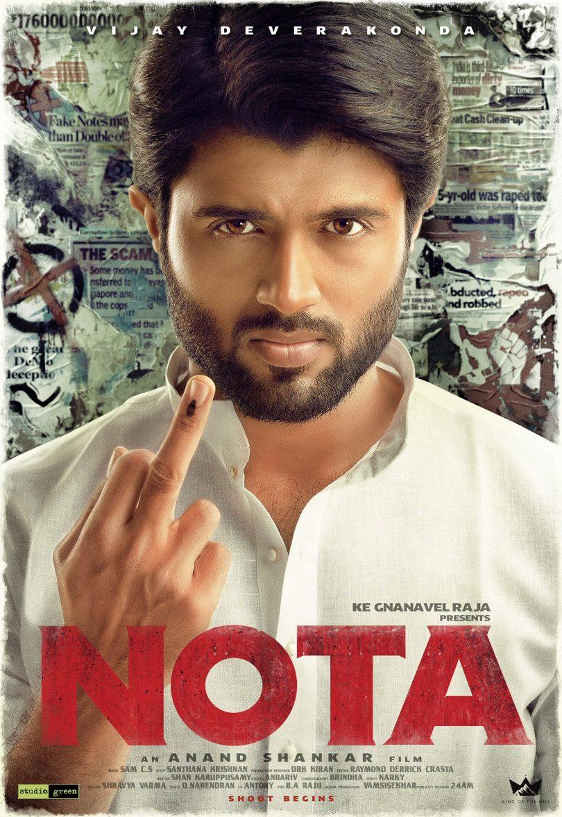 Vijay Deverakonda starrer 'NOTA' releases first look
