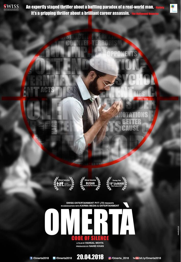 Rajkumar Rao starrer 'Omerta' poster out and he is the target!