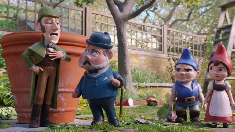 Sherlock Gnomes movie review: Sherlock being impatient about himself
