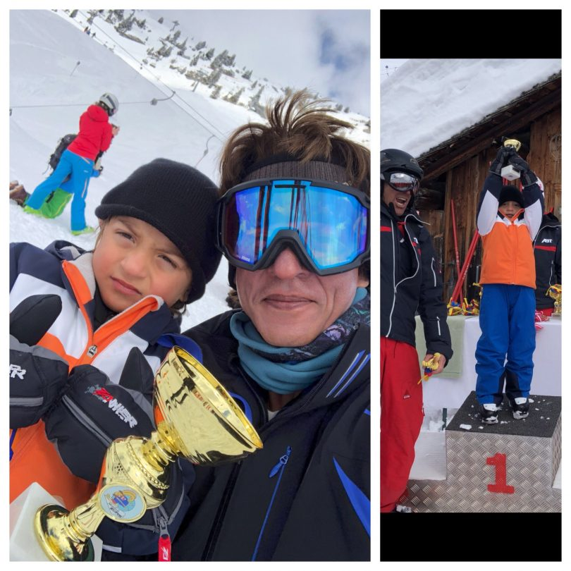 Shahrukh Khan calls AbRam the skiing champion of the world