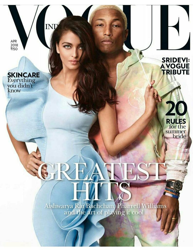 Aishwarya Rai Bachchan mocked for Photoshop failure in Vogue cover with Pharrell Williams
