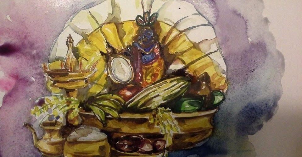 Vishu, the festival to mark the new year for the state of Kerala, and Karnataka