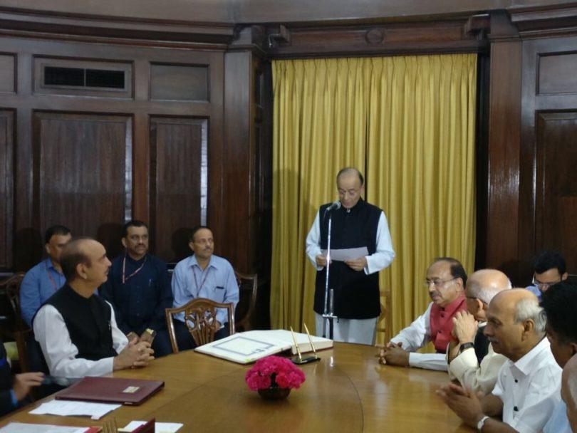 Arun Jaitley, re-elected in Rajya Sabha, takes oath in office