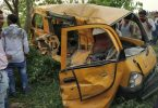 Kushinagar accident, 13 children dead as train collides with school van