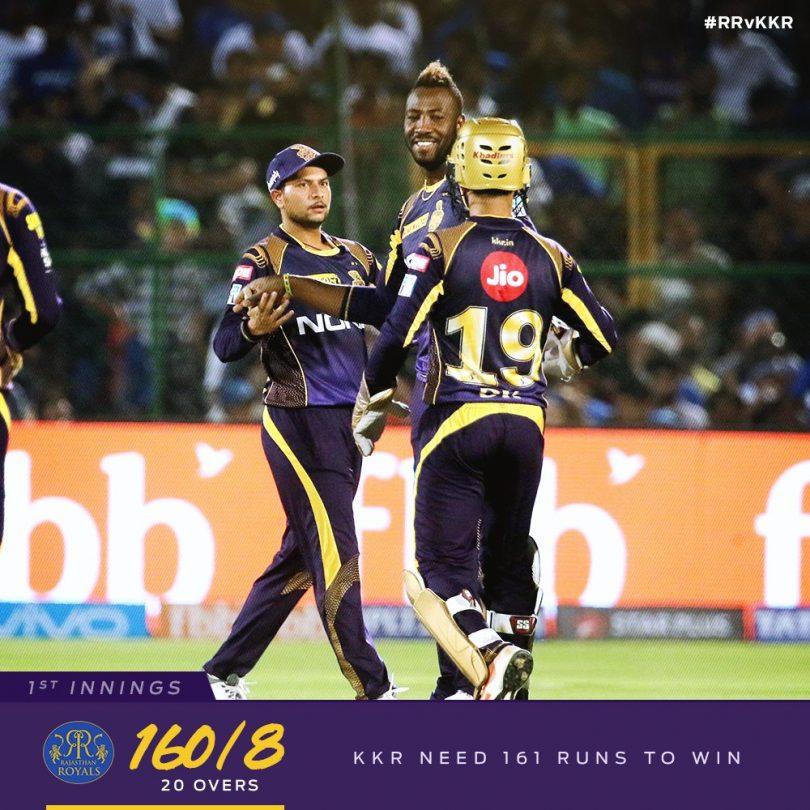 IPL 2018: KKR vs RR, Robin Uthappa, Nitish Rana sealed second win for Kolkata, beat Rajasthan by 7 wickets