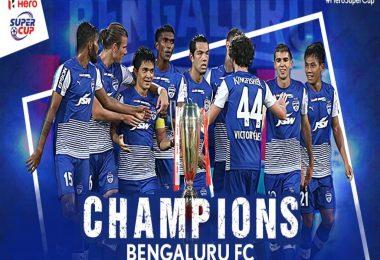 Super Cup Final 2018, Bengaluru FC wins Super Cup 2018: Rahul Behke, Chhetri, Miku strikes