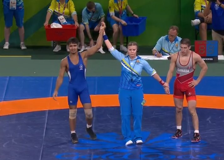 CWG 2018: Wrestler Rahul Aware clinches Gold medal in 57kg freestyle wrestling